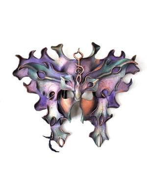 Large Leather Butterfly Mask -- Mardi Gras -- Masquerade Balls -- One of a Kind