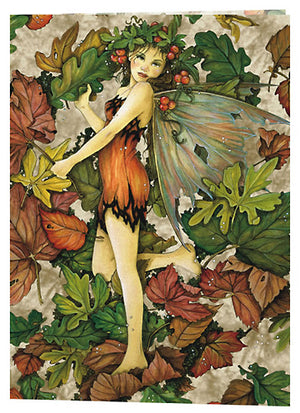 Linda Ravenscroft Leaf Fairy Greeting Card