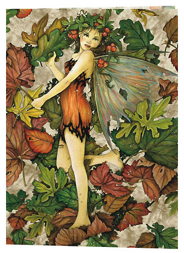 5 Wholesale Linda Ravenscroft Leaf Fairy Greeting Cards