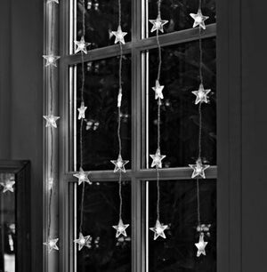 Electric LED Lights Lighted Star Curtain