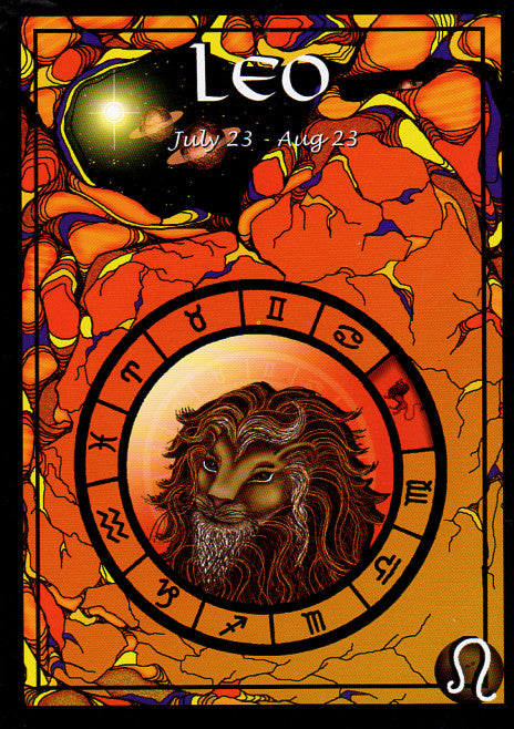 Astrological Leo Greeting Card