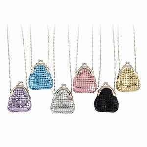 Sequin Mesh Change Purse Necklace in 6 Colors