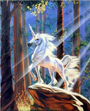 Susan Dawe Light in the Forest Unicorn Greeting Card