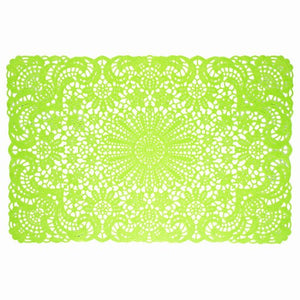 Lime Green Vinyl Lace Placemat