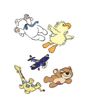 Wallies Little Suzy Zoo Witzy's Flight School Wallpaper Cutouts