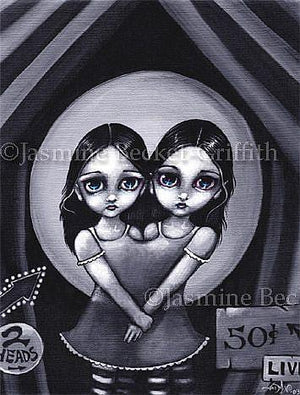 Jasmine Becket Griffith Live Two Headed Girl Postcard