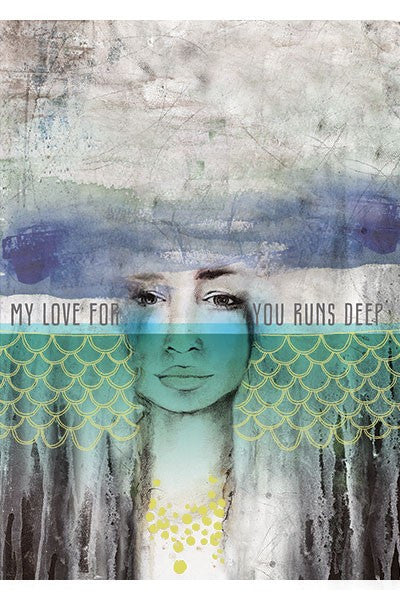My Love Runs Deep Bohemian Greeting Card