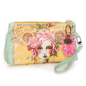 Rose Bohemian Love Who You Are Wallet Wristlet Bag