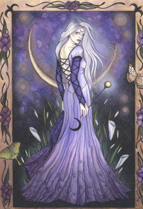 Jessica Galbreth Maiden Moon Ceramic Tile Art