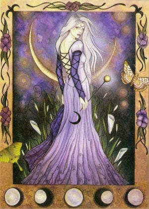 Jessica Galbreth Maiden Moon Goddess Greeting Card