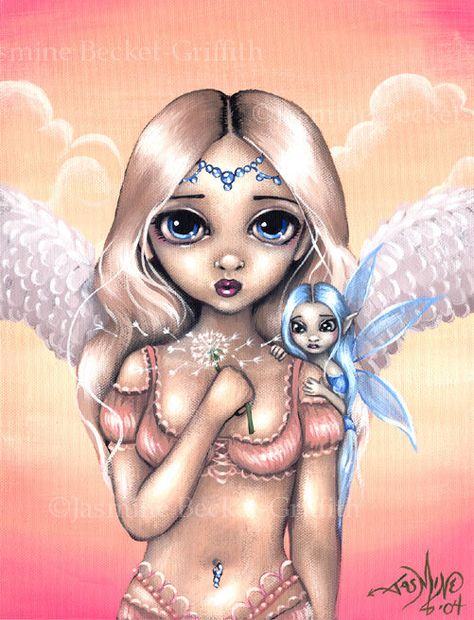 Jasmine Becket Griffith Making a Wish Fairy Print