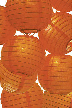 Mango Orange Paper Lantern String Lights