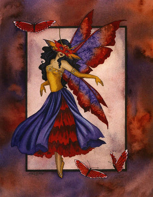 Amy Brown Masquerade Fairy Postcard