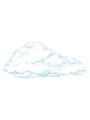 Wallies Medium Size Cloud Wallpaper Cutouts