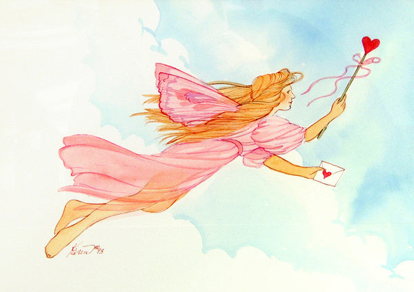 Karen Bagnard Messenger Fairy Greeting Card