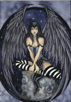 Amy Brown Midnight Fairy Postcard