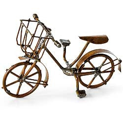 Minature Antiqued Brown Bicycle for the Garden