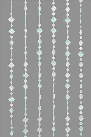 Mint Green Beaded Curtain -- Diamond Shapes