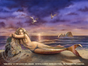 David Delamare Mermaid Miranda Greeting Card