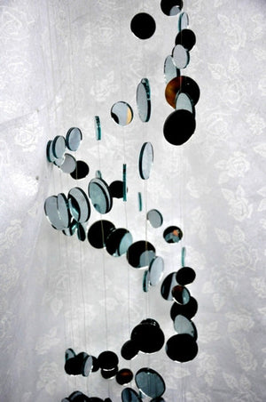 "39"" Long Spiral Mirror Mobile"