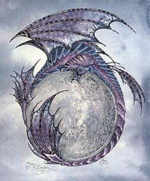 Amy Brown Moon Dragon Notecard