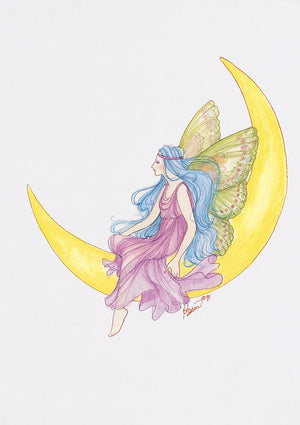 Karen Bagnard Moon Fairy Greeting Card