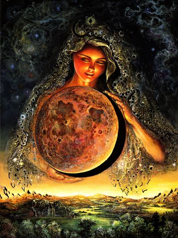 Josephine Wall Moon Goddess Greeting Card