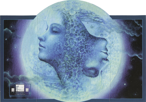 Linda Garland Moon Goddess Altar Greeting Card