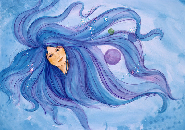 Karen Bagnard Moon Spirit Greeting Card