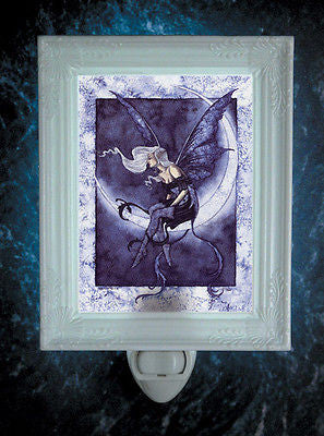 Amy Brown Moonsprite Fairy Night Light -- Porcelain Garden