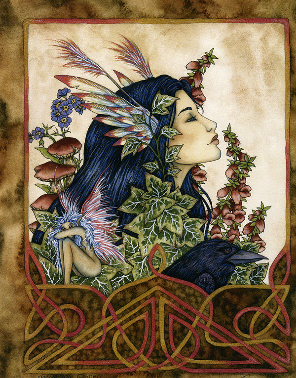 Amy Brown Morgan Le Fey Fairy Print, 8.5 x 11