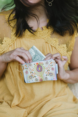 Bohemian Moroccan Peacock Coin Purse by Papaya