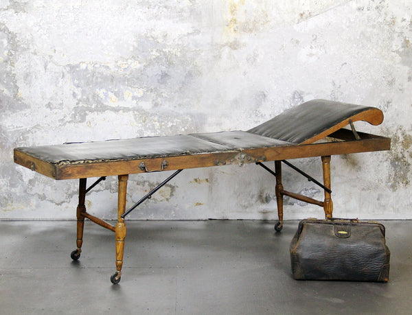 Strange and Unique Antique 1800's Portable Morticians Table