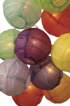 Bohemian Rainbow Paper Lantern String Lights