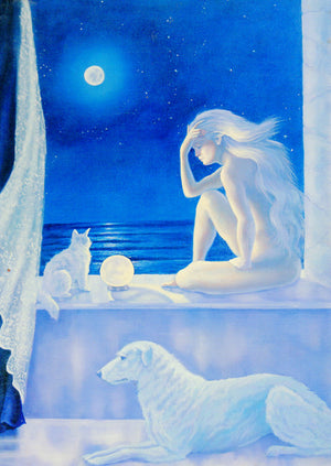 Diana Stanley Mystic Nights Greeting Card