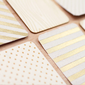 Project Life Natural Wood + Canvas Gold Foil Cards