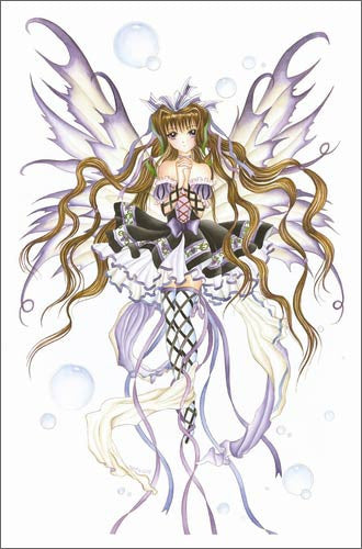 Nene Thomas Burgundy Wine Anime Fairy Print