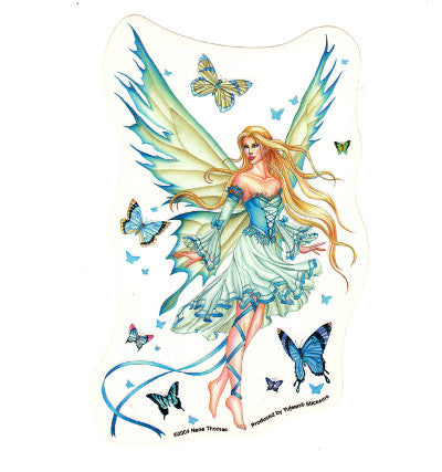 Nene Thomas Prelude in Blue Fairy Butterfly Die Cut Sticker Decal
