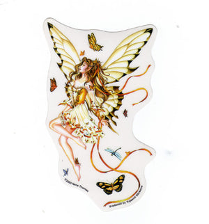 Nene Thomas Rhapsody in Gold Fairy Butterfly Die Cut Sticker Decal