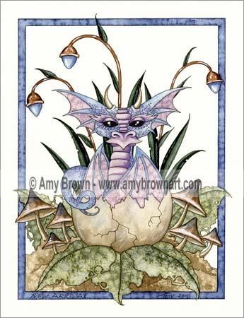 Amy Brown New Arrival Baby Dragon Egg Print