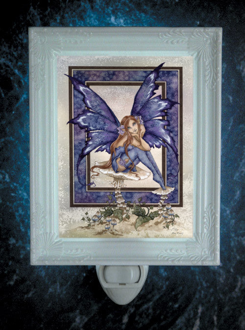 Amy Brown Nice Fairy Night Light -- Porcelain Garden