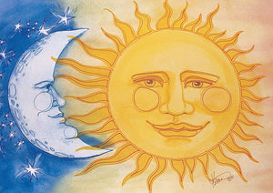 Karen Bagnard Night and Day Celestial Sun + Moon Greeting Card