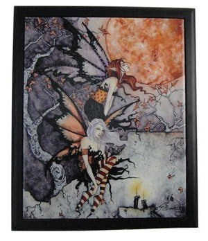 Amy Brown Nightflyers Framed Fairy Ceramic Tile