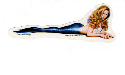 Carlos Cartagena Obsidian Mermaid Pin Up Sticker Decal