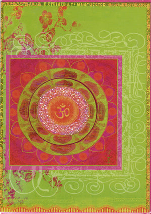 Om Garden Papaya Bohemian Greeting Card