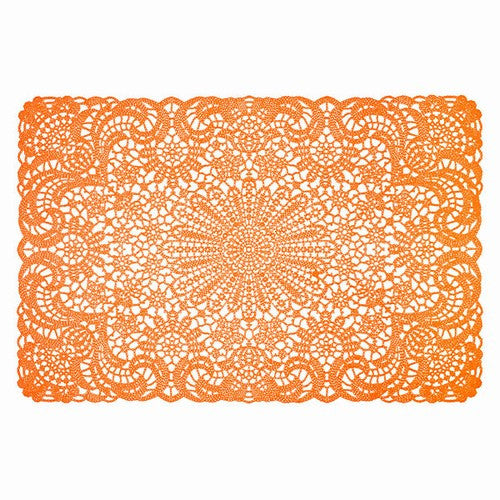 Orange Vinyl Lace Placemat