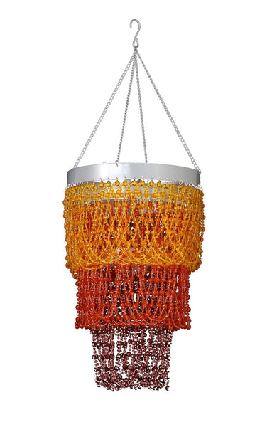 Chandeliers that bohemian girl beaded orange and brown mini ball three tier chandelier mozeypictures Images