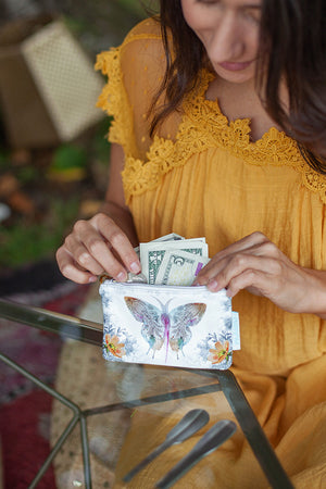 Bohemian Paisley Butterfly Coin Purse by Papaya