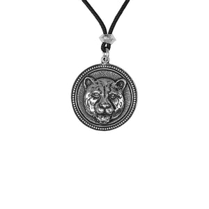 Panther Animal Totem Pewter Pendant Necklace -- Spirit Animal