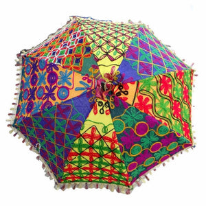 Bohemian Wedding Umbrella Patchwork Gypsy Parasol